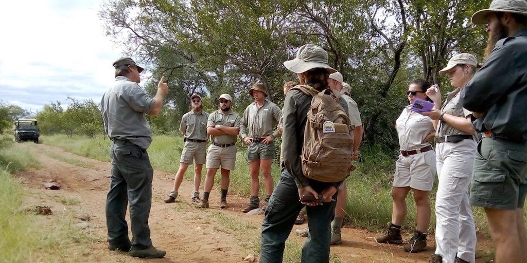 Bushwise students getting training in the bushveld.