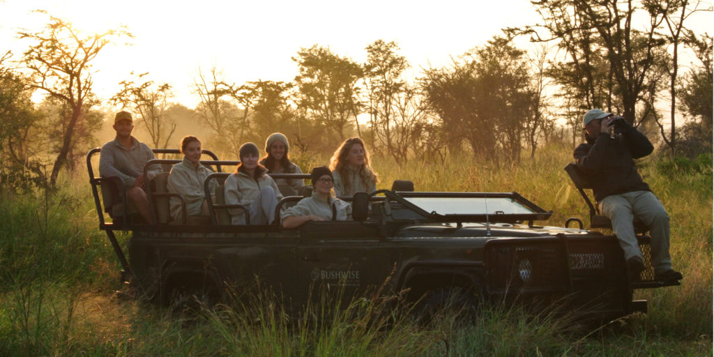 Field guides on a game drive