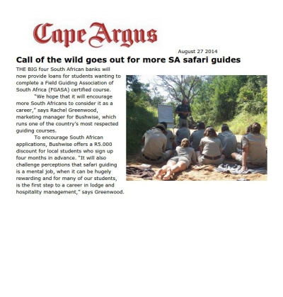 Call of the wild goes out for more SA safari guides