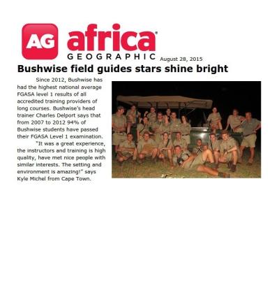 Bushwise field guides stars shine bright