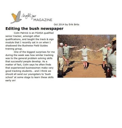 Editing the Bush newspaper