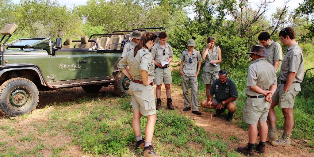 Future wildlife rangers gaining practical experience at Bushwise.