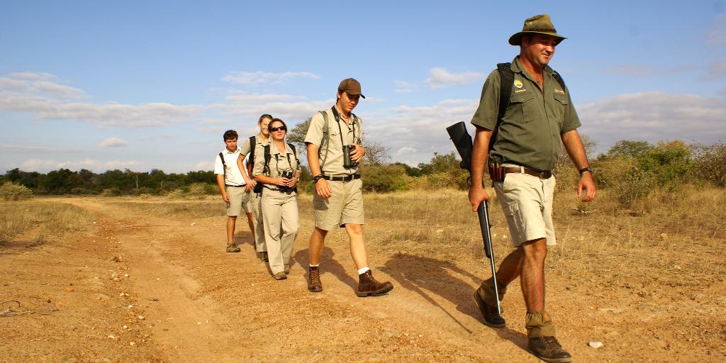 Bushwise field guides taking a walk in the bush.