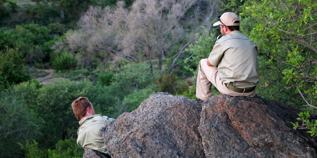 Bushwise students enjoying the view of nature.