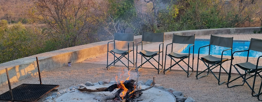 Bushwise students prepare to have a bonfire.